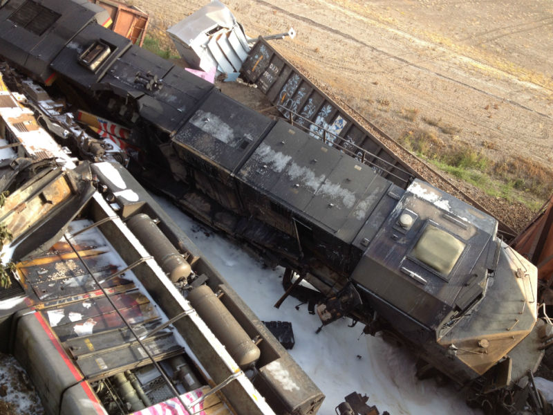 Seven Injured as Train Accident Collapses Overpass [Photos]