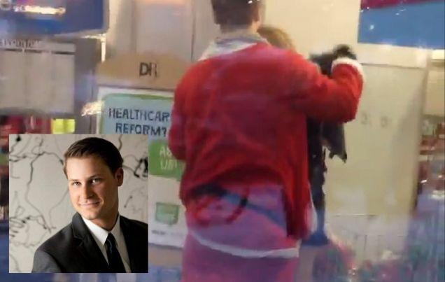 Handjob in public video