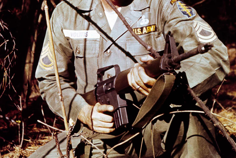 gun violence soldier image