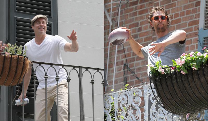 Separate Balconies Didn T Keep Brad Pitt And Matthew Mcconaughey Apart