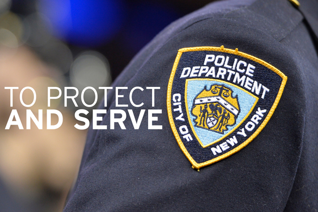 Image result for protect and serve nypd