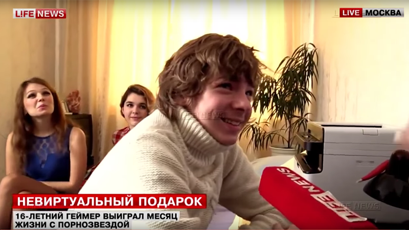 Russian Boy Gamer Who Won A Month With A Porn Star Is A Child Actor