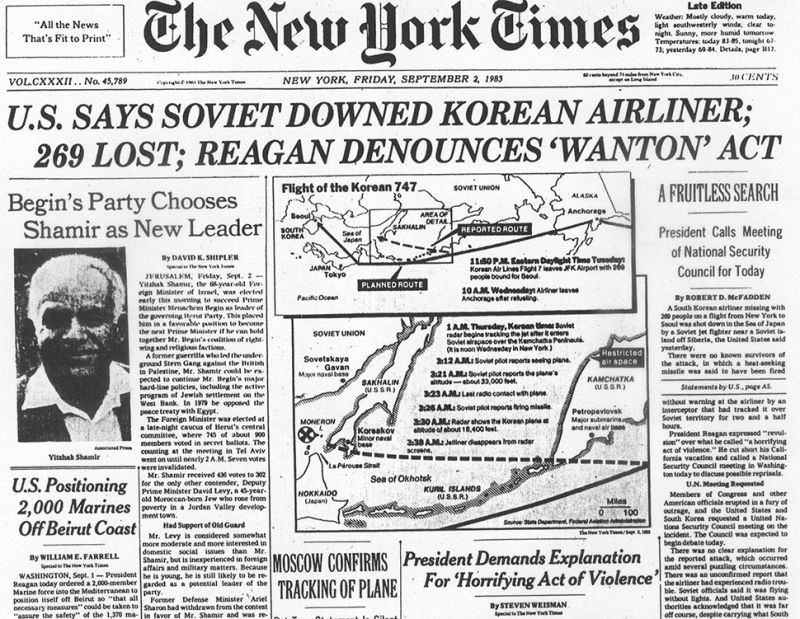 Image result for soviet union shoots down korean airliner