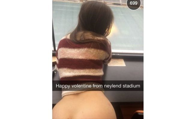 Students Valentines Day Sex in Stadium Press Box Ends up