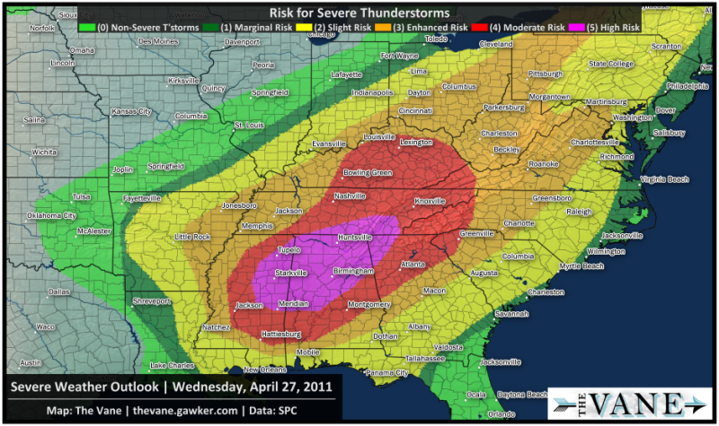Severe Weather Map Here's a Crash Course on Severe Weather Forecasts to Help Keep You  Severe Weather Map