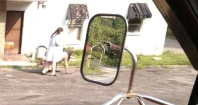 Woman walks man on a leash - YouTube