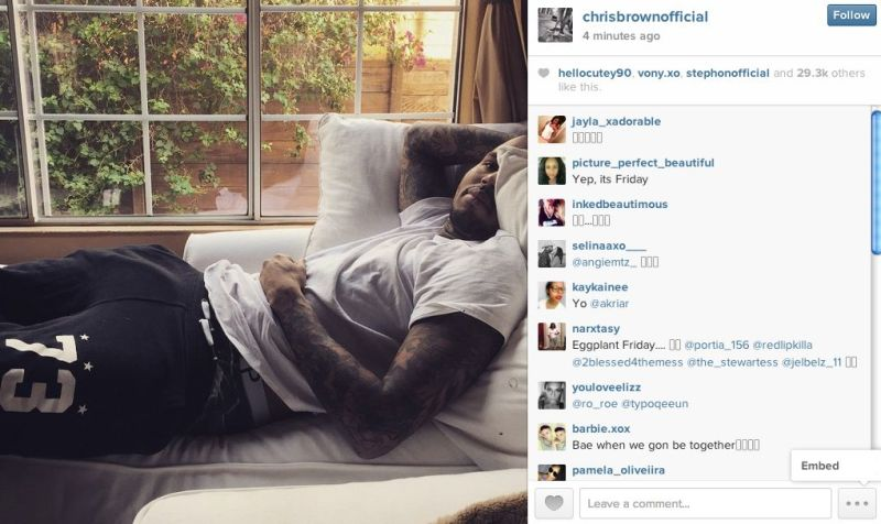 Chris Brown Would Like To Remind You That His Dick Is Long (and Thin)